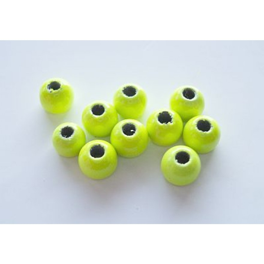 Tungstenperlen fluo yellow/4,0mm-10 Stck.