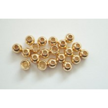 Tungstenperlen gold/3,3mm-20 Stck.