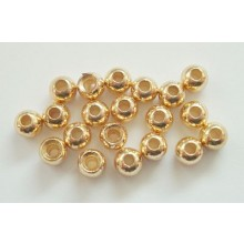 Tungstenperlen gold/3,8mm-20 Stck.