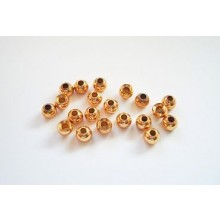 Tungstenperlen gold/2,8mm-20 Stck.