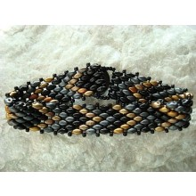 Bracelet-black gold grey