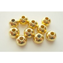 Tungstenperlen gold/5,0mm-10 Stck.