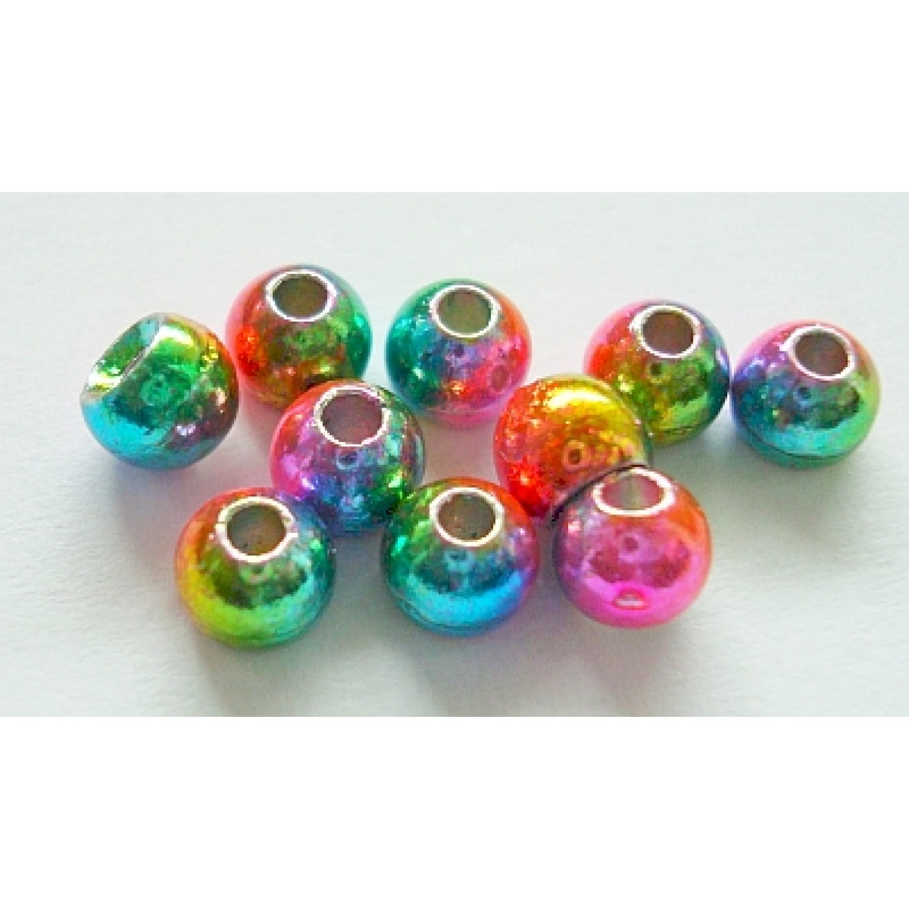 Tungstenperlen rainbow/3,3mm-10 Stck.