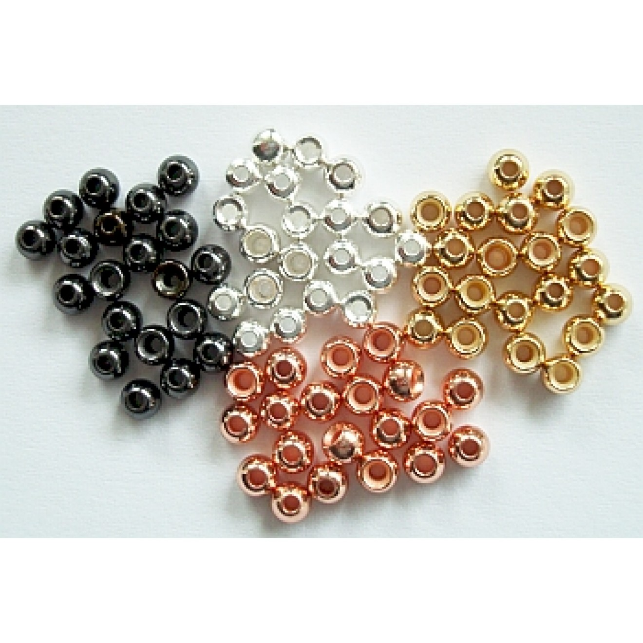 Messing-Perlen Brass Beads 3,2mm-20Stck.