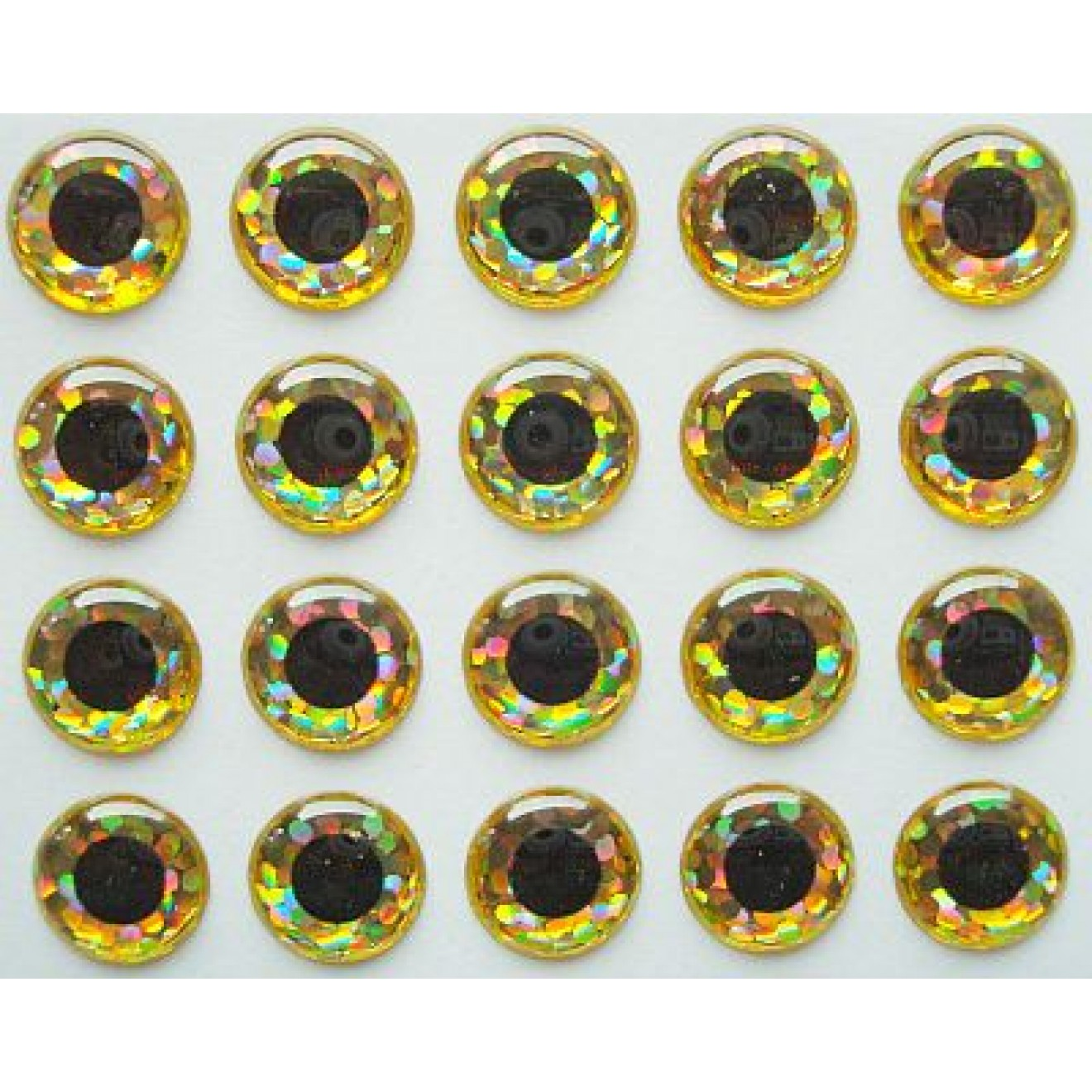 Epoxy 3D Eyes-holografic gold
