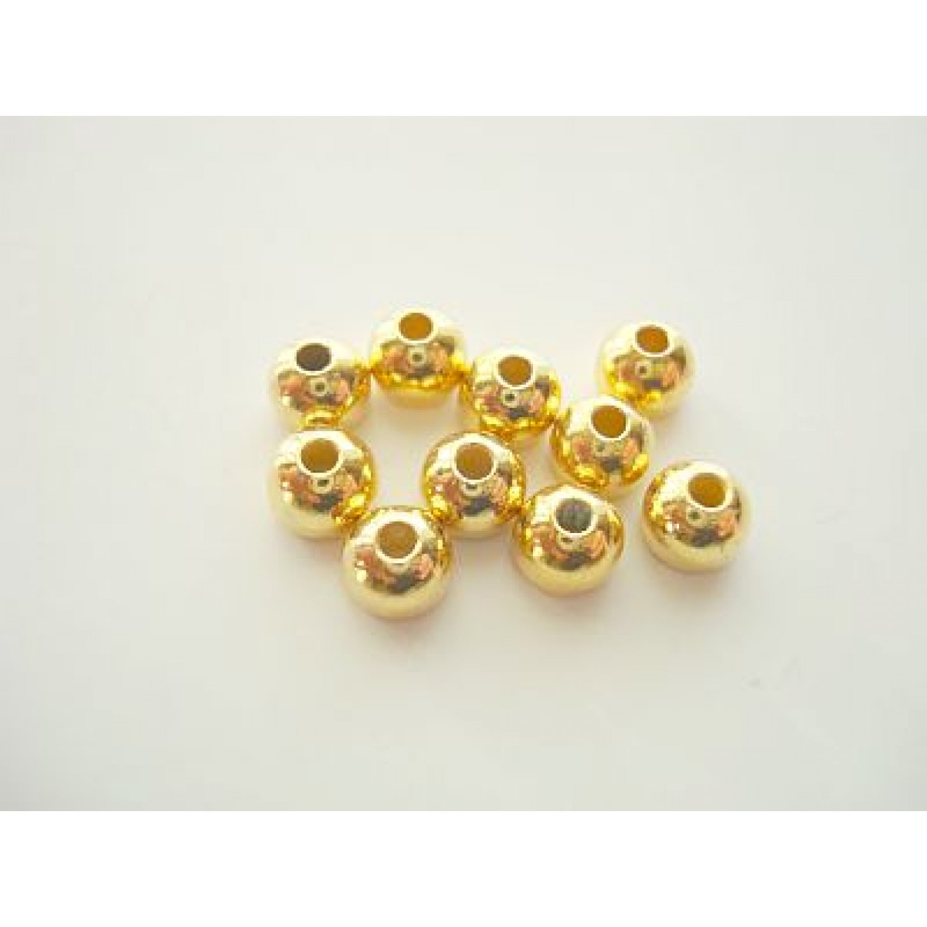 Tungstenperlen gold/2,3mm-10 Stck.